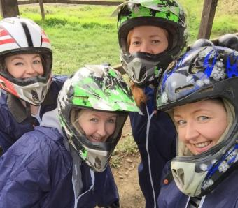 Birthday party waiting for the Quad bikes