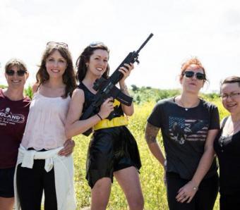 Hen do group image on shooting range