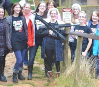 Hen group finished on the Assault rifle range in Bournemouth