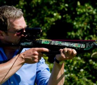 Crossbow shooting at Max Events in Bristol