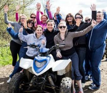 Hen Party quad biking Bristol