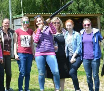 hen group on the clay shoot in Bournemouth