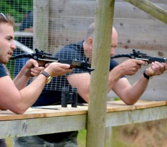 zombie destruction with crossbows in Bournemouth