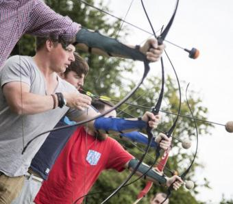 Preparing for the clay on clay archery