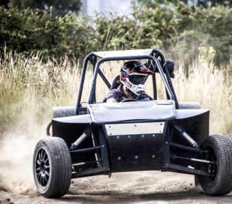 Drifting out in Rebel buggy on stag do