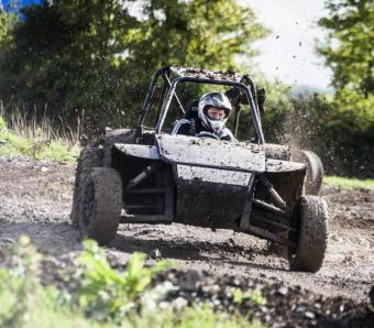 Mud flying on Rebel buggy track