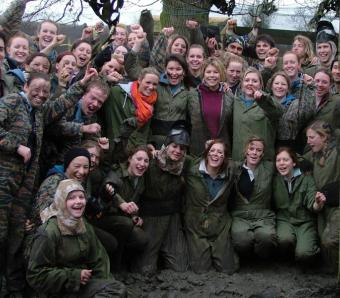 Team photo after paintball session