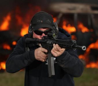 Assault rifle shoot