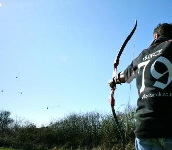 Arrows flying everywhere on clay archery!