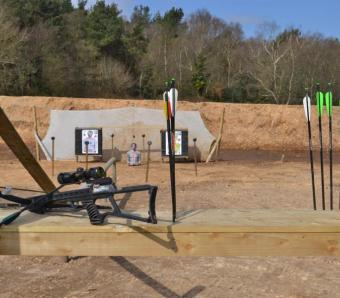 Crossbow range at Max Events in Bournemouth