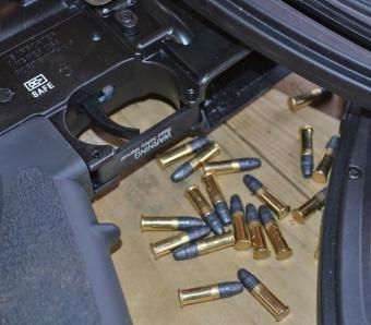 Reloading HK416 with .22 rimfire rounds