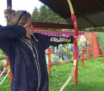 Perfect Stance down the Archery range