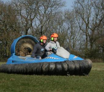 stag groups getting to grips with moving their weight around to stear the hovercraft