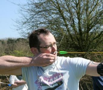 archery requires some concentration!
