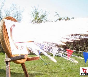 Crossbolt bold hitting the Firebird target!