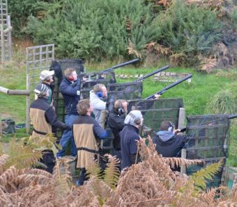 4 stags clay shooting at Max Events Bournemouth