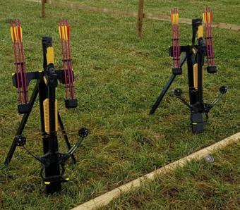 barnett crossbows ready to go at Max Events
