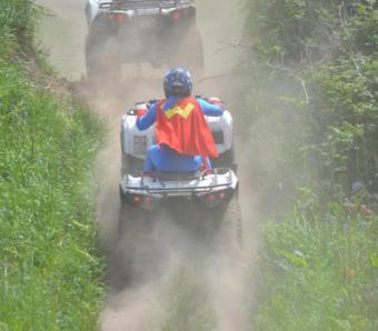 Uphill moment on quads