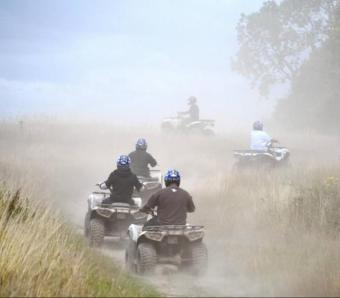 dusty day on quad safari