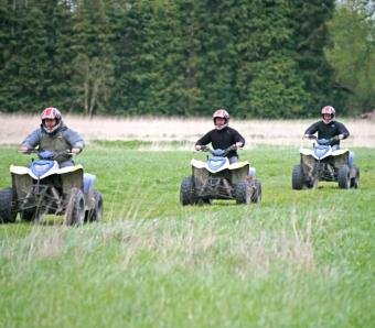 Stag do on Quad Bike safari in Oxford