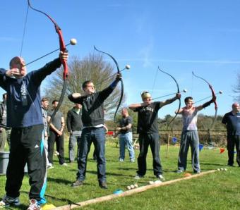 Clay archers taking aim at Max Events Bristol