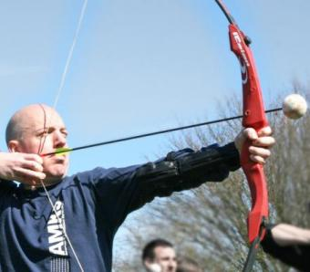 Clay archery at Max Events in Bournemouth