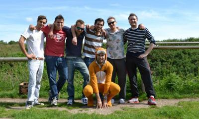 Stag party enjoying themselves at Max Events Bristol