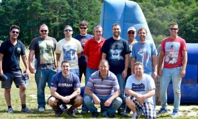 stag group on human table football