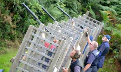 clay shooters taking aim in Bournemouth